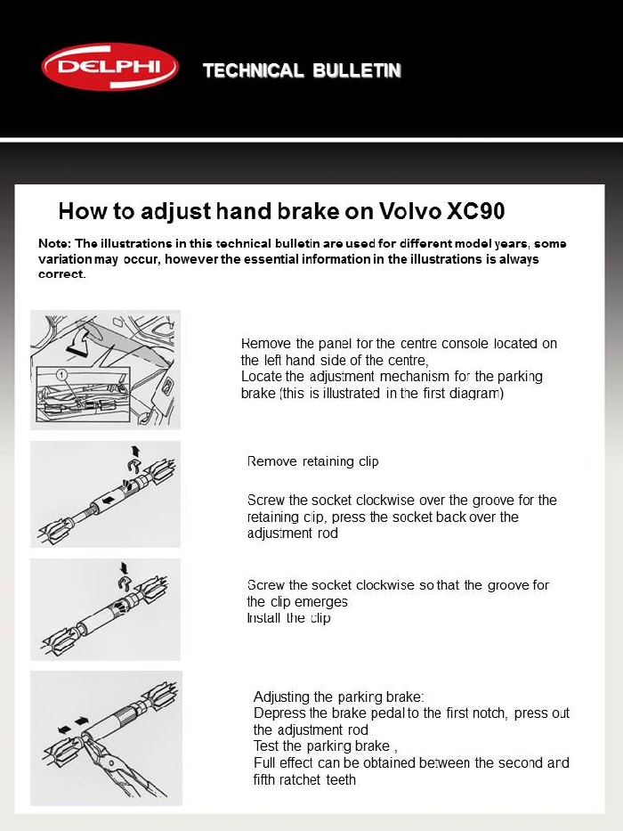 Media Library - Delphi Technical Tips Volvo Brake
